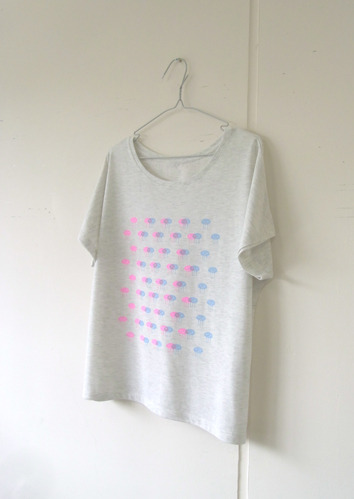 おはぎたちのTシャツ▲うすいグレー▲