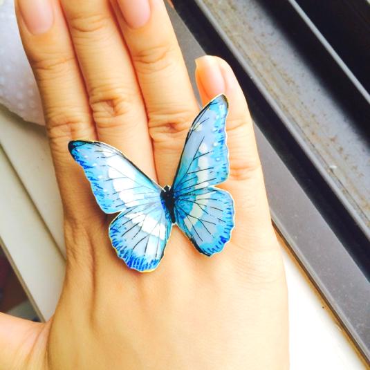 ブルーモルフォ  パーツ 蝶々