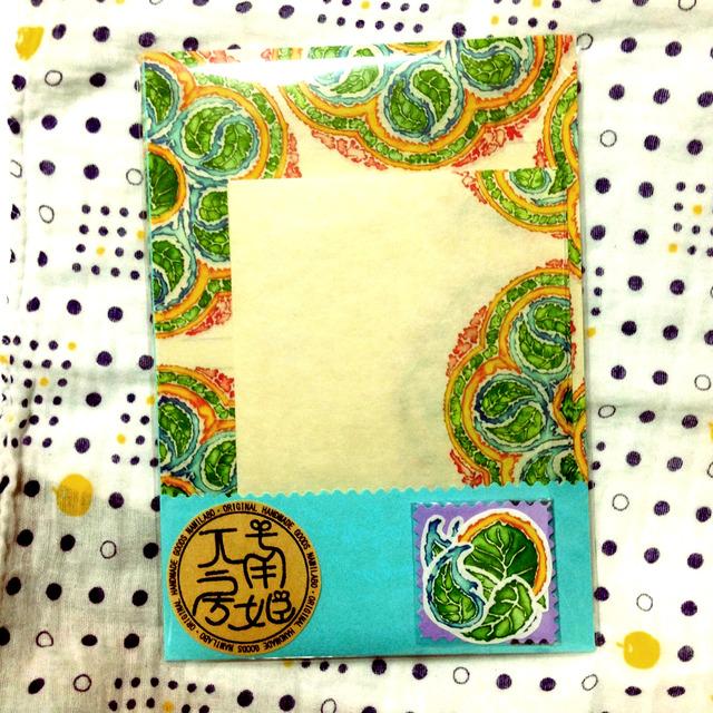 和紙レターセット-【曼荼羅水彩】−ナミラボ−