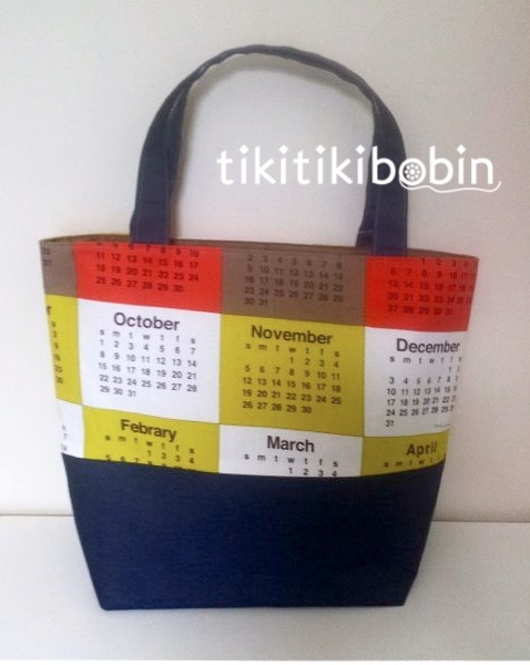 1950年のカレンダー柄デカトート(B)【送料無料】