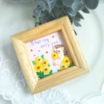 Staring only you ヒマワリの刺繍ミニ額