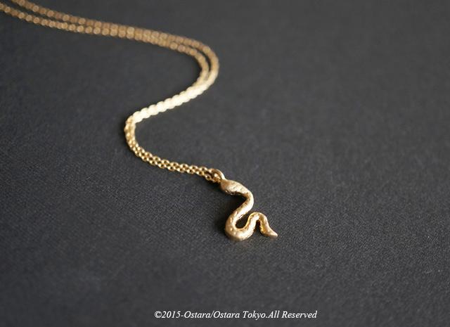 ��14KGF��Necklace,16KGP Mat Gold Snake