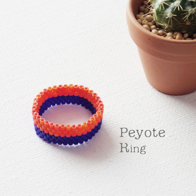 ビーズリング Netherlands ☆Peyote Ring