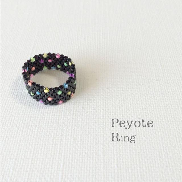 ビーズリング Hanabi ☆Peyote Ring