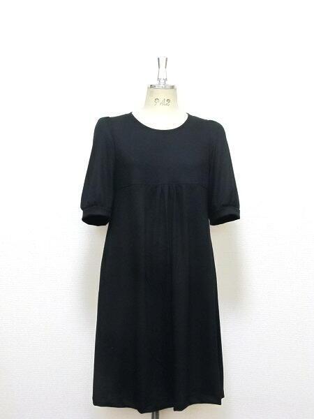 リトルブラック☆五分袖ギャザードレス