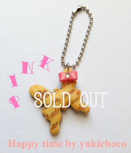 【SALE】蝶々リボンクッキーボールチェーン(Pink)