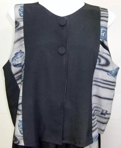 着物リメイク 留袖と長襦袢で作ったベスト 352