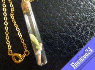 『縦長小瓶の妖精』(桃色)