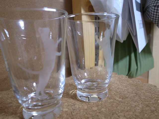 シルエットニャンコ ペアグラス