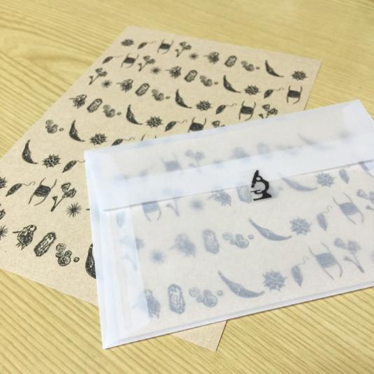 微生物模様のレターセット【再販】