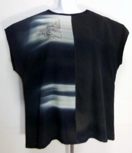 着物リメイク 泥染の留袖で作ったベスト 355