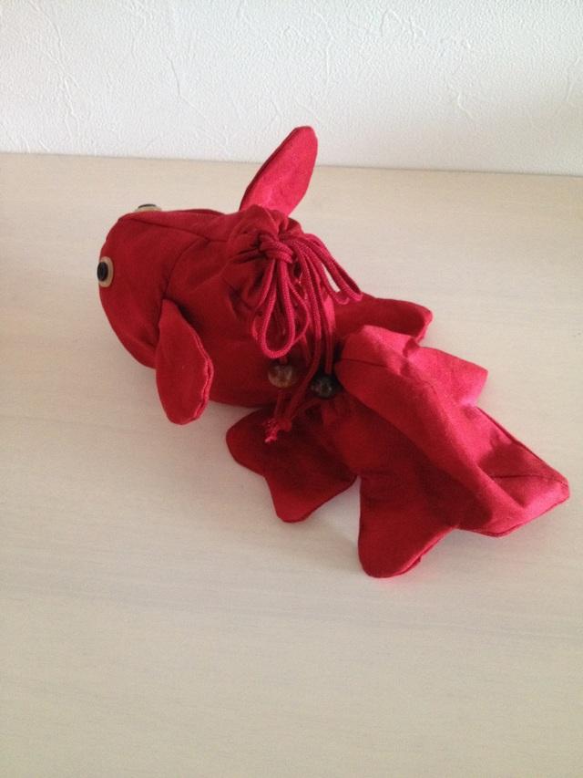 《再発売♪》金魚の巾着(赤)