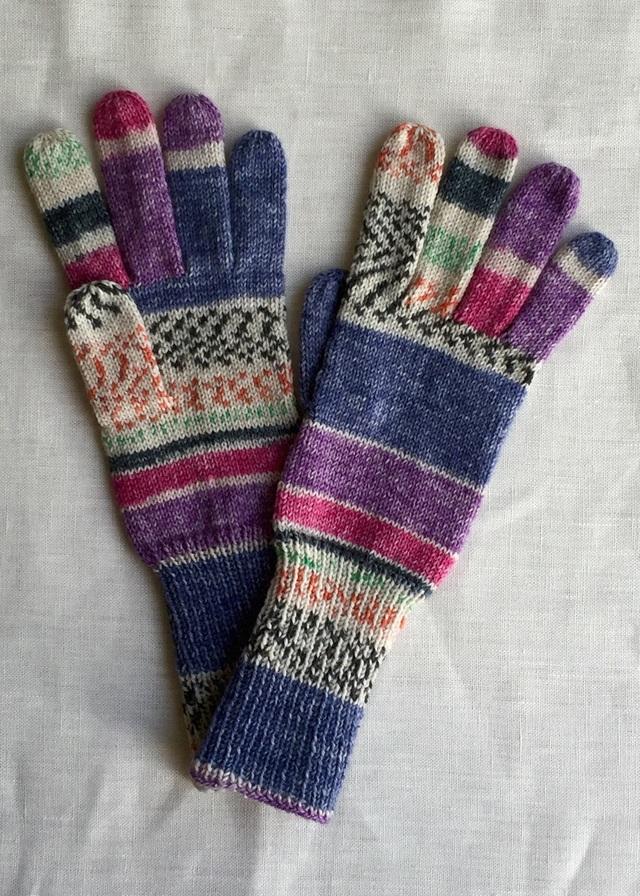 手編み5本指手袋 No.37【再販】
