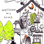【ミニ絵画】wellcome my home