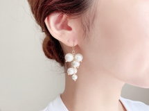 【特集掲載】300円OFF&送料無料 Cotton berry / Pierce, Earrings