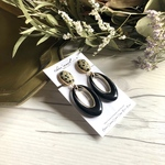 Circle  02 -Dalmatian Jasper- earring/pierce