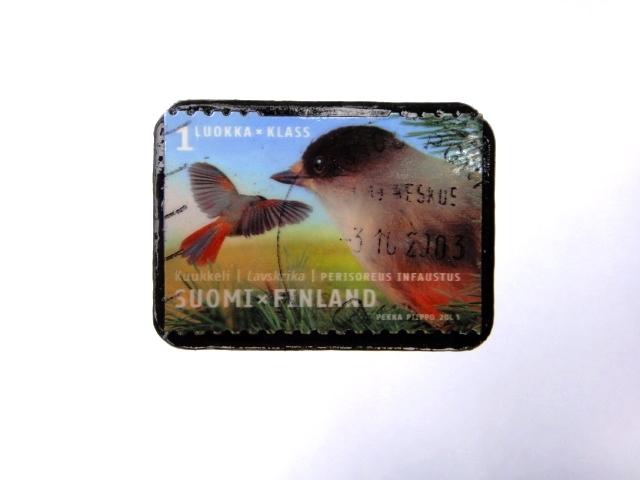 フィンランド 切手ブローチ982