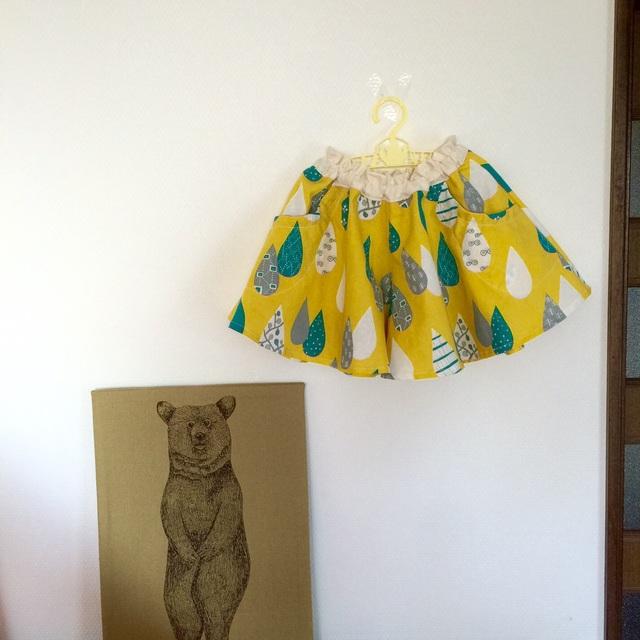 *サイズ100-110*キュロットスカート*lemon yellow drop*