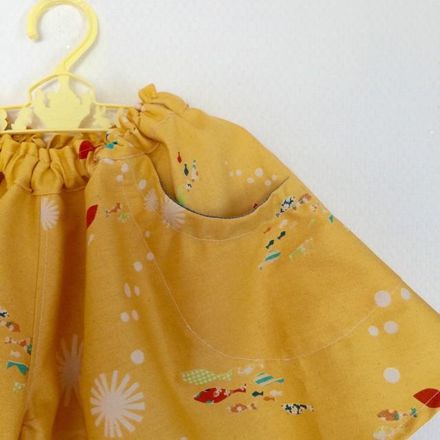 *サイズ100-110*キュロットスカート*yellow sea*