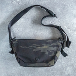 ONE SHOULDER mini Camouflage Black
