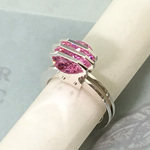Three Parallel Lines CZ Ring<Order Production>