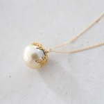 14KGF south sea pearl necklace [nc1211]