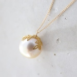 14KGF south sea pearl necklace [nc1212]