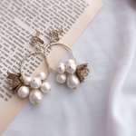 blooming pearl pierce/earring