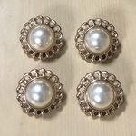 GOLD PEARL FLOWER BUTTON PARTS