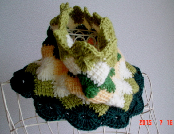 ���ġ�꡼��Ϥ�flower Afghan���ͤ�Cowl Neck Warmer