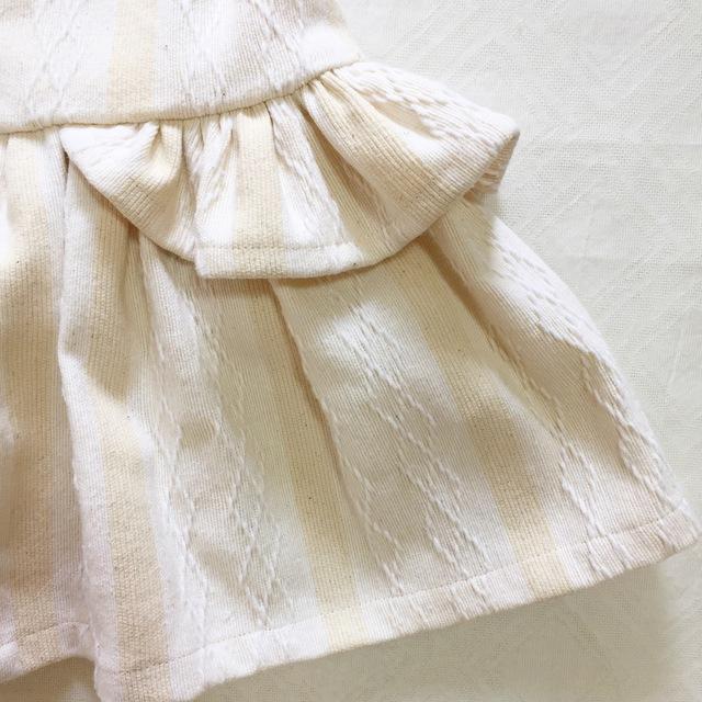 02c705cefa4aa インド綿のモノトーンボーダーワンピース(90cm)