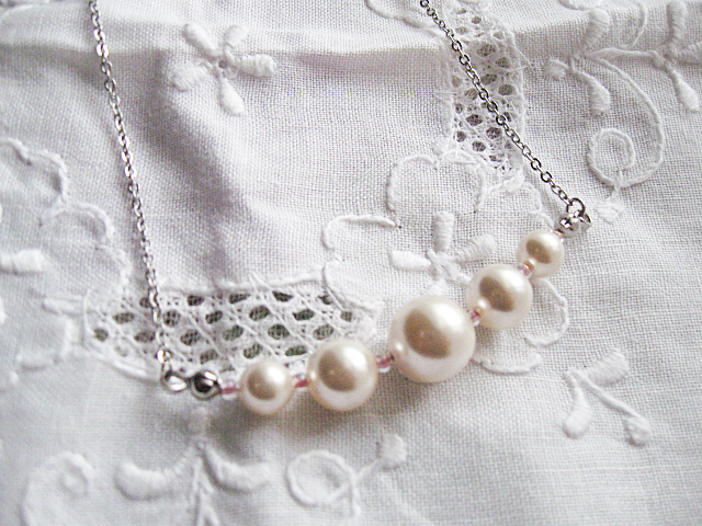 【半額セール♪】スワロフスキーパールの上質ネックレス