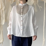 linen bosom shirt[French linen  off-white]