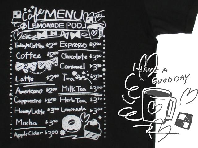 カフェメニューTシャツ(Lサイズ)