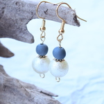 kawara pierce & earrings* -cotton pearl-