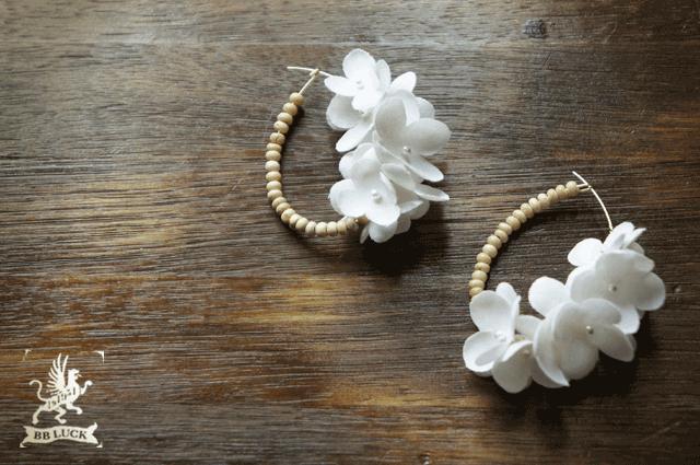 pierce  �� wood & flower �� �۲ֻ��۲֤ȥ��åɥӡ����Υԥ��� �� white  ��