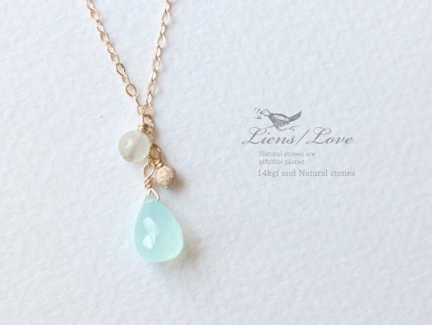 御予約品:Liens Love/14kgf 宝石質ネックレス