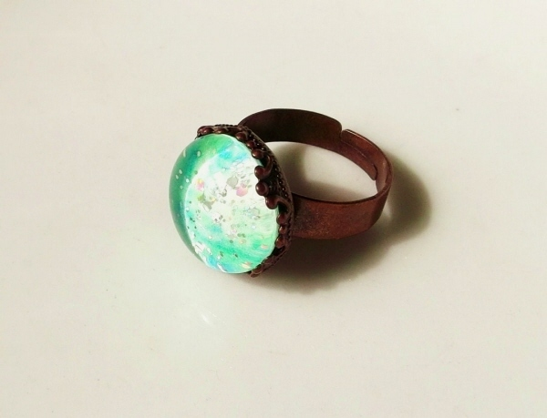 星団夜光指輪-ウィンターグリーン【蓄光】