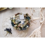 natural wreath◎ antique blue