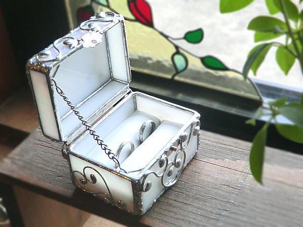 手のり W リング ボックス 宝石箱 ウエディング ギフト 再販