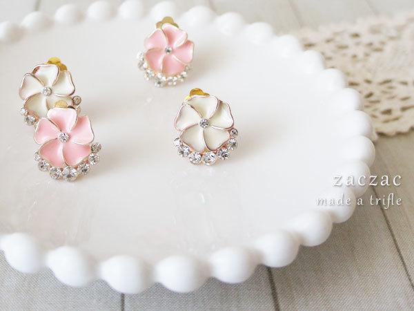 【販売終了】キラキラお花*クリップイヤリング