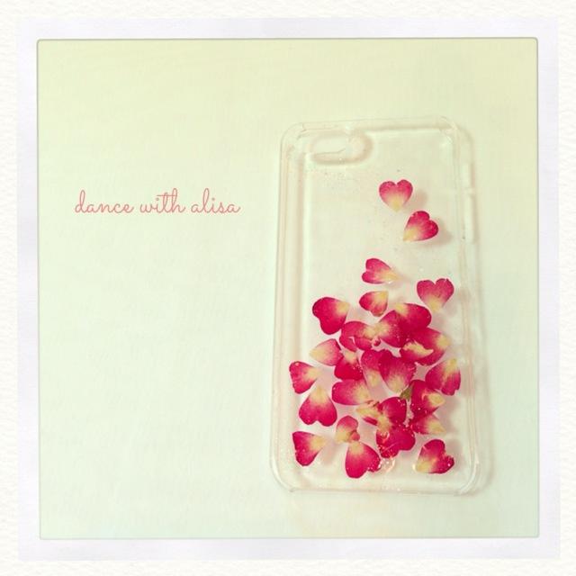 iPhone ケース バラの花びら