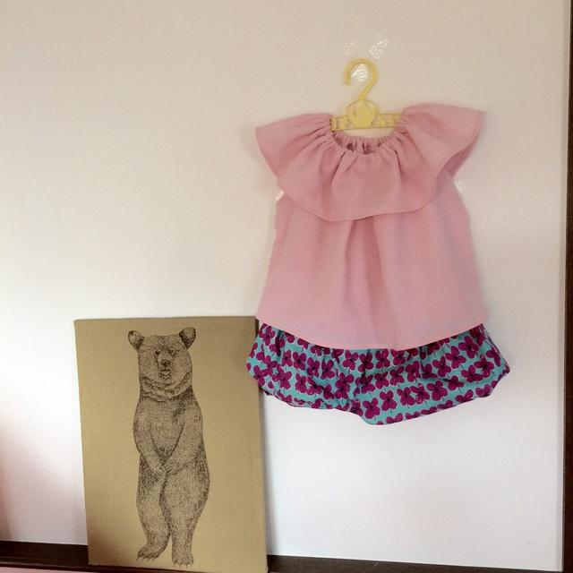 *サイズ90*フリルチュニックとバルーンスカート*pink*