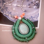 Green Tube necklace <ODA 1908>