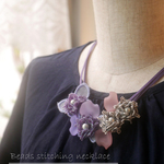 Purple stitch necklace <Stitch 1901>
