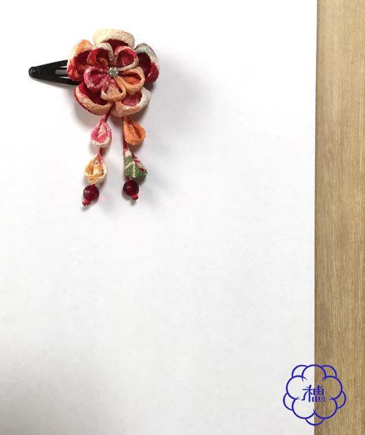 小梅の髪飾り(赤)