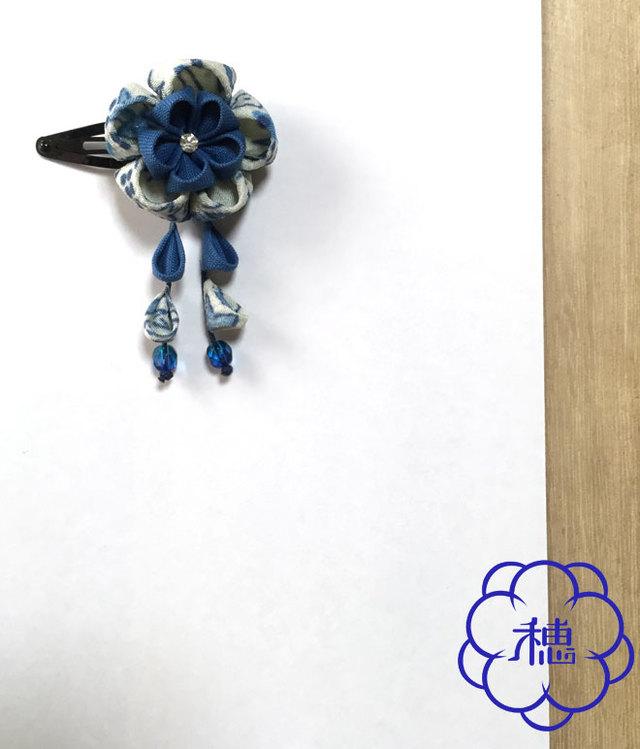 小梅の髪飾り(青)