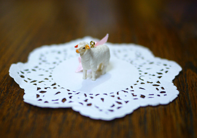 (Sold out)animal片耳ピアス【Sheep】