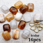 【cbtt560acrc】【15×12㎜】【4color 16pct】fake stone cabochon