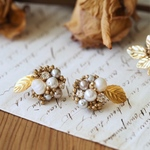 *weddingにオススメ* -gypsophila  pierce(earring)-